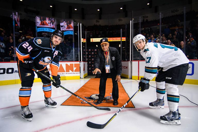 AHL: Hockey Pioneer O'Ree Helps Gulls Celebrate Inaugural Diversity Night