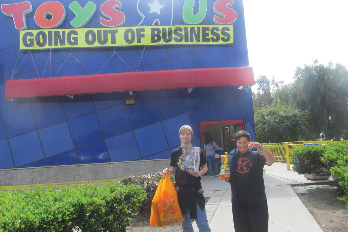 Toys r busted the star news johnathan and joseph peterson show off the toys their mom bought them at toys r us in chula vista reheart Images